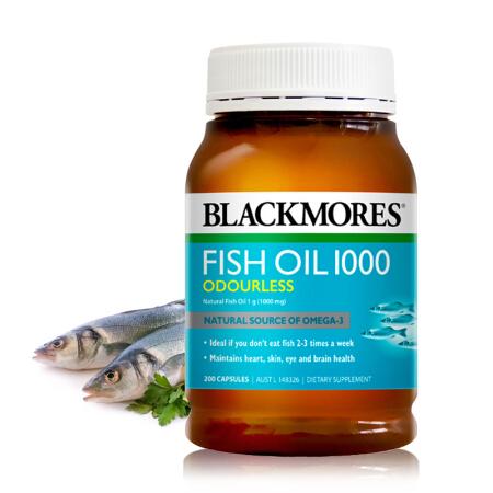 【香港直邮】澳洲BLACKMORES澳佳宝 无味深海鱼油软片 400粒